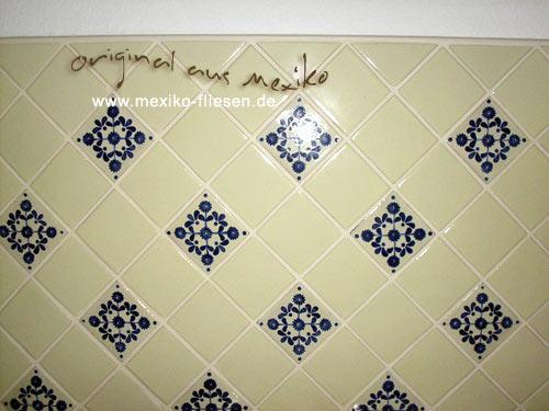 Handgemachte fliese aus mexiko 10x10 mexican white der for Fliesen 10x10