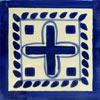 Handbemalte Fliese 10x10 - Cozumel