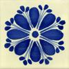 Handbemalte Fliese 10x10 Amapola Azul