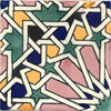Handbemalte Fliese 10x10 - Tangier