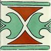 Handbemalte Fliese 10x10 - Roma verde TC
