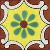 Handbemalte Fliese 10x10 - Arabesque