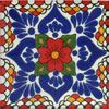 Handbemalte Fliese 10x10 - Espejo rojo