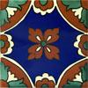 Handbemalte Fliese 10x10 - Vizcaino