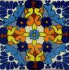 Handbemalte Fliese 10x10, Gallina azul