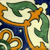 Handbemalte Fliese 10x10 - Corona invertido 1/4