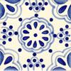 Handbemalte Fliese 10x10 - Lace Azul