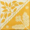 Handbemalte Fliese 10x10 - Canasta mango
