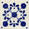 Handbemalte Fliese 10x10 - Margarite