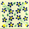 Handbemalte Fliese 10x10, Violets