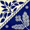 Handbemalte Fliese 10x10 - Canasta azul