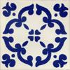 Handbemalte Fliese 10x10 - Barocco
