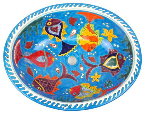 Xl Waschbecken Oval Aquarium Kaufen Im Bunte Fliesen Shop
