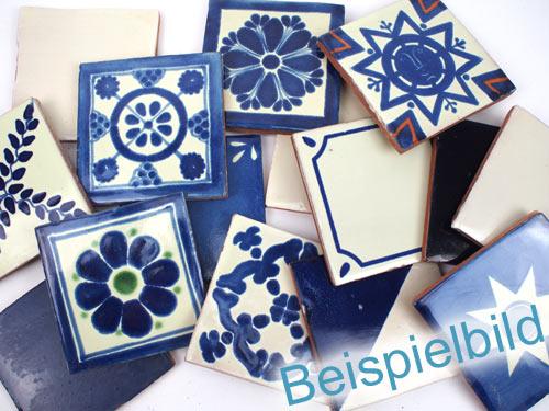 1 Qm 90 Fliesen 10x10 B Ware Blau Weiss Kaufen Im Bunte Fliesen Shop